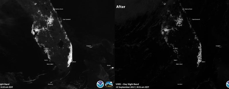 satellite imagery after Irma