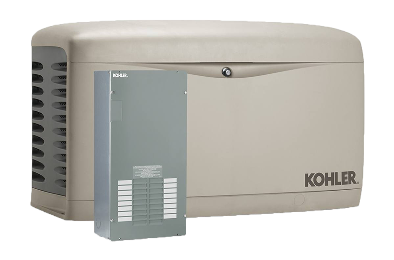 Kohler Generator and Transfer Switch Transparent